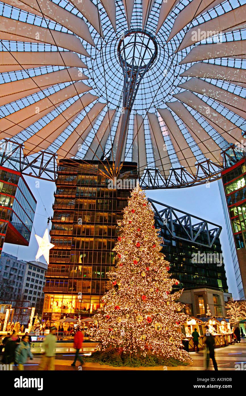 Berlin Potsdamer Platz Sony Center christmas - Stock Image