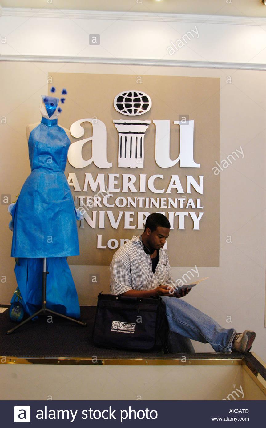 American Intercontinental University In Marylebone High Street In Stock Photo Alamy