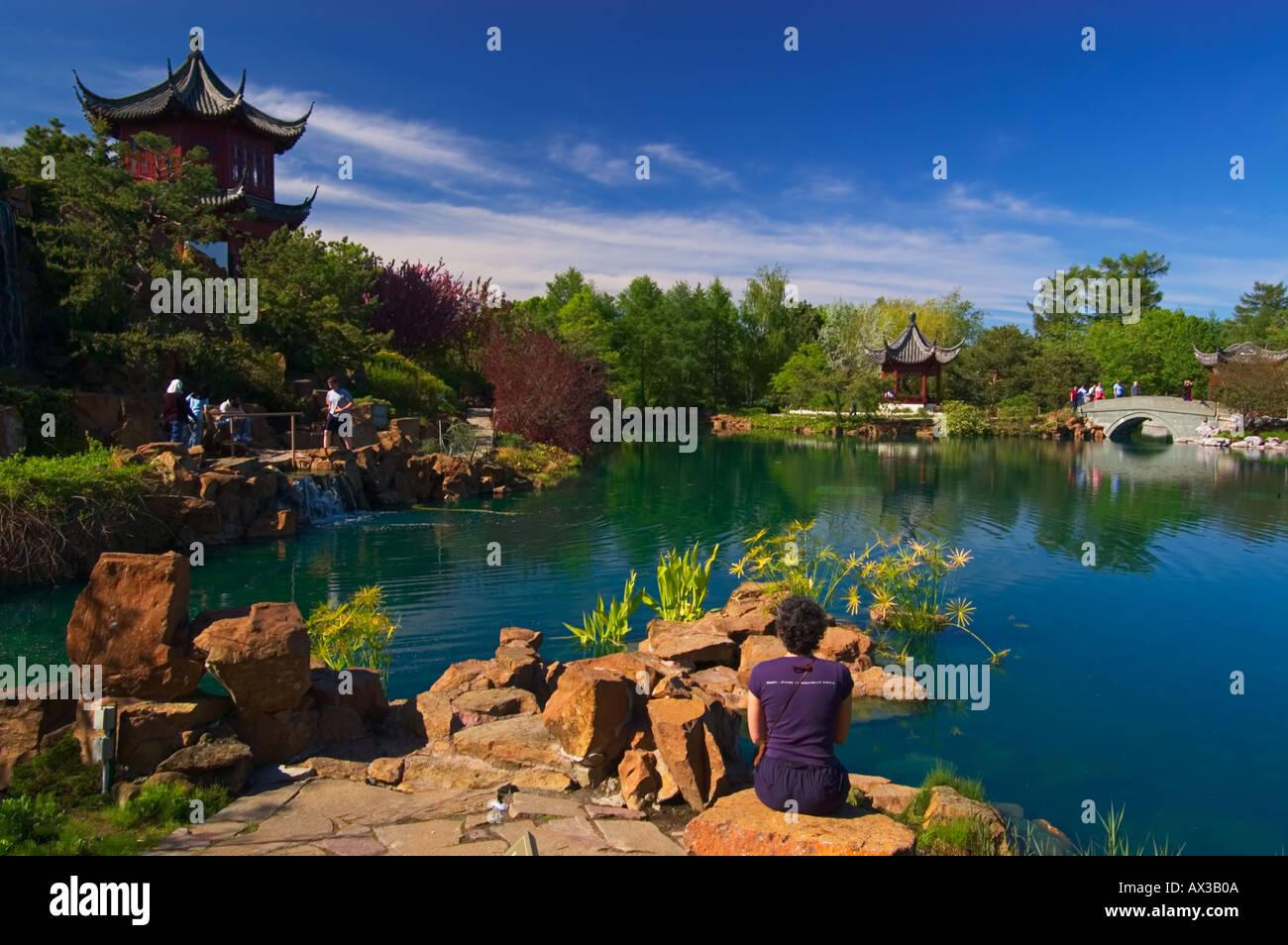 Chinese Garden, Montreal Botanical Garden, Montreal, Quebec, Canada
