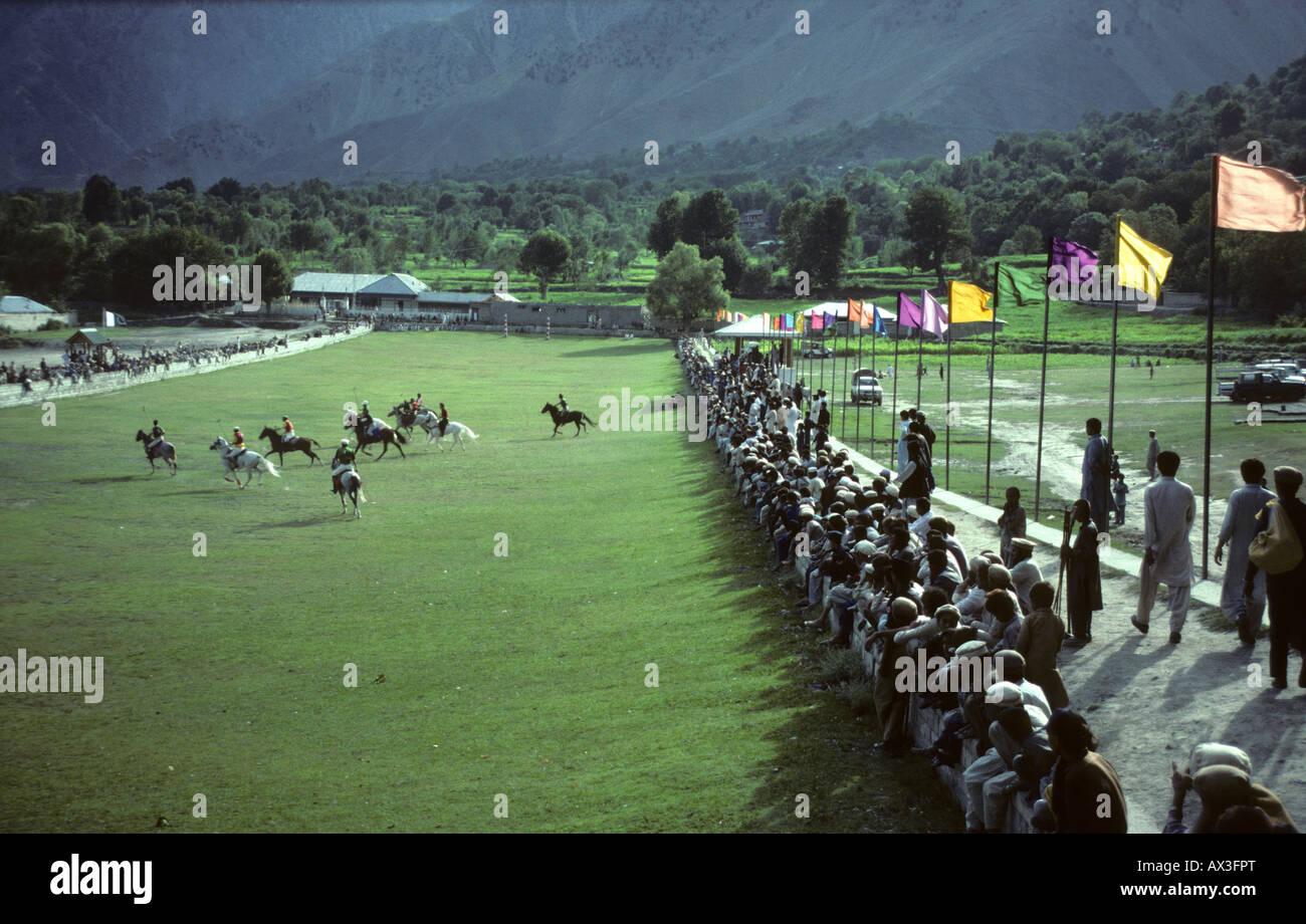 Polo match, Chitral, Pakistan - Stock Image
