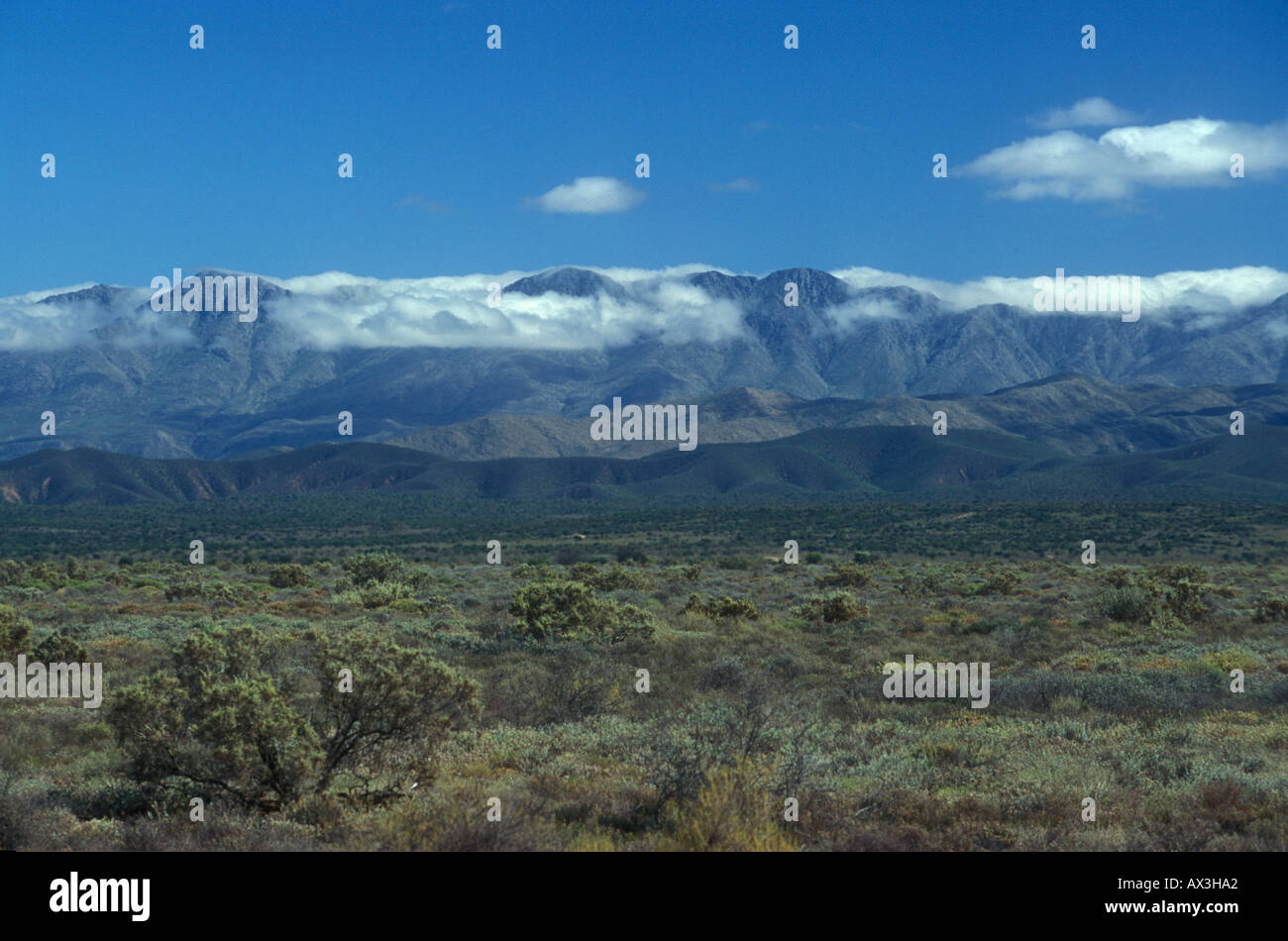 Groot Swarteberge Mountains near Oudtshoorn Western Cape Province South Africa - Stock Image