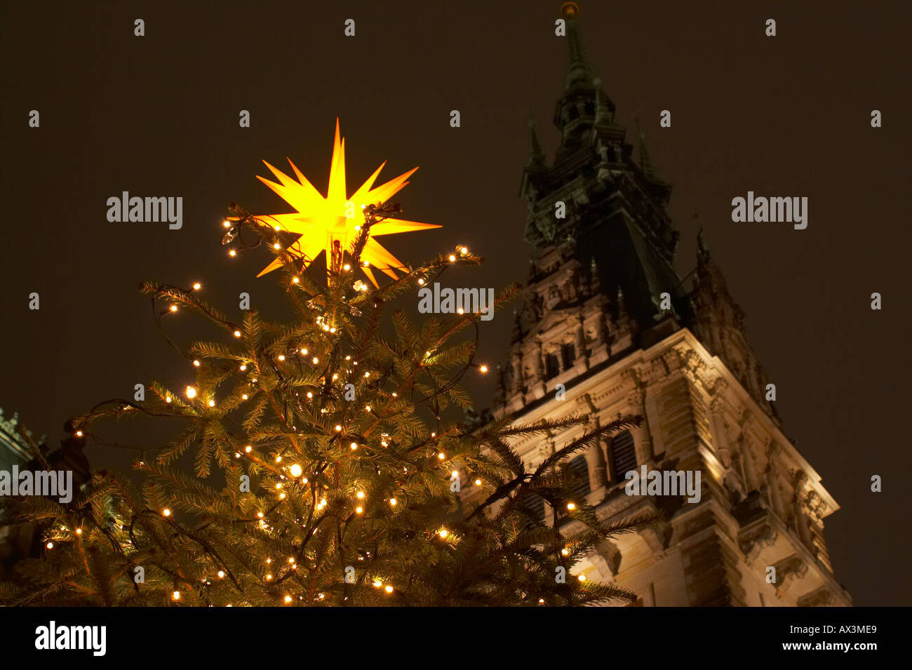 Very famous Christmas-Market in Hamburg, Germany  Top-Star