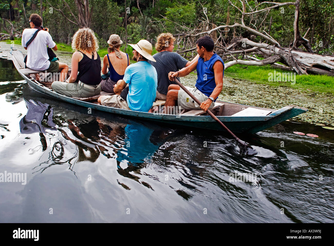 Brazil, Amazon, Rio Tapajos. A tributary of the Rio Tapajos which is itself a tributary of the Amazon. - Stock Image
