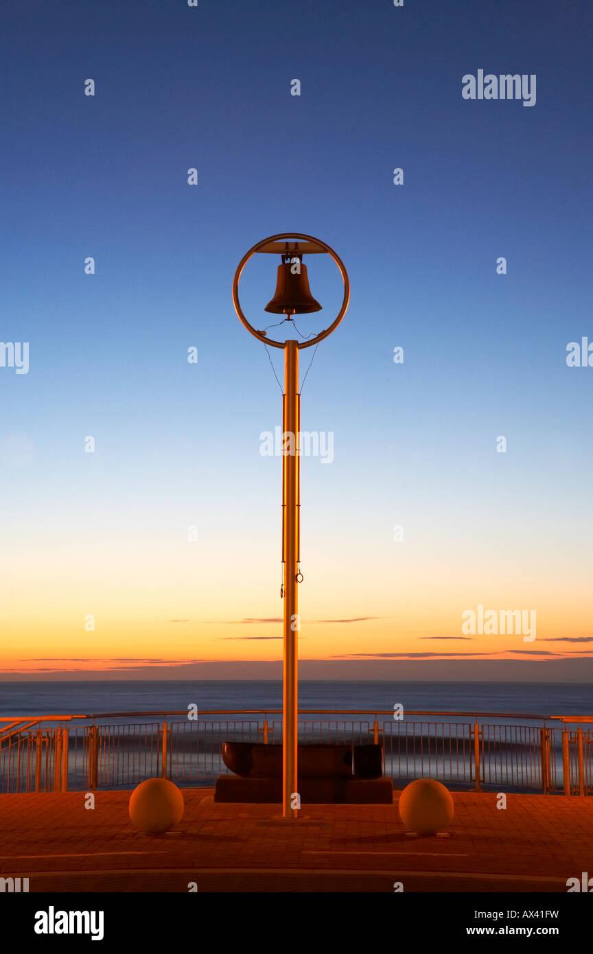 Shark Bell at Dawn St Clair Beach Dunedin South Island New Zealand Stock Photo