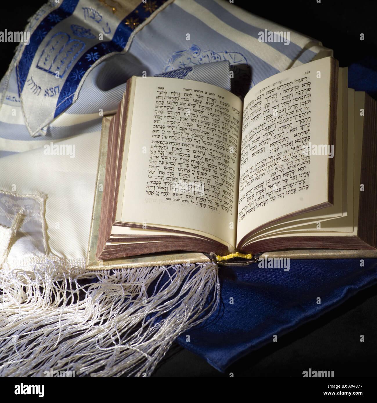 Judaica Symbols siddur - Stock Image