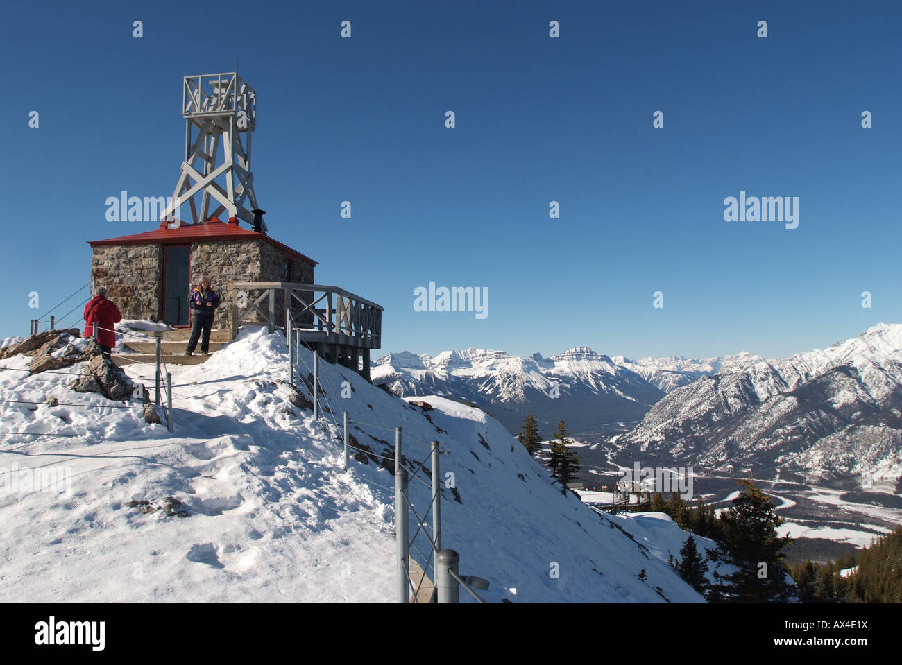 CANADA Alberta Banff  National Park Sulphur Mountain Cosmic Ray Station old weather station - Stock Image