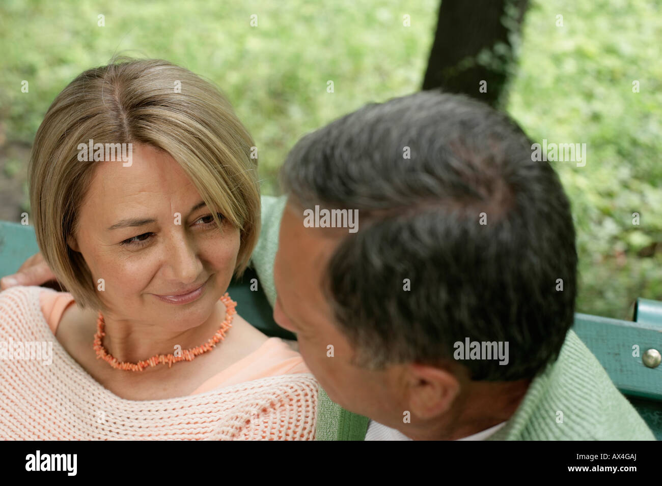 Mature couple looking into each other's eyes - Stock Image