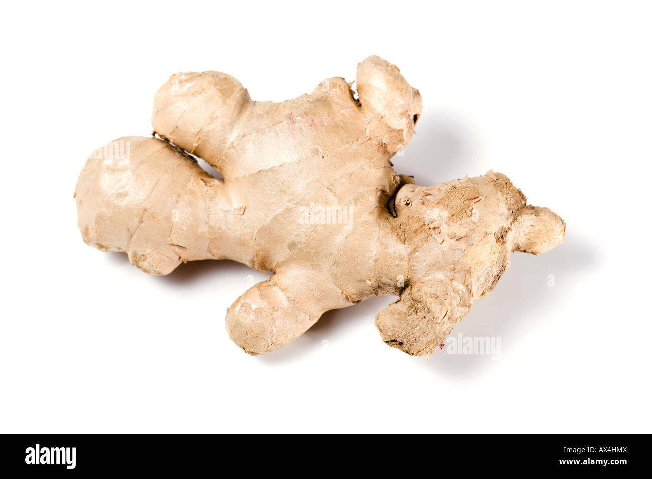 ginger root with human shape isolated on white background - Stock Image