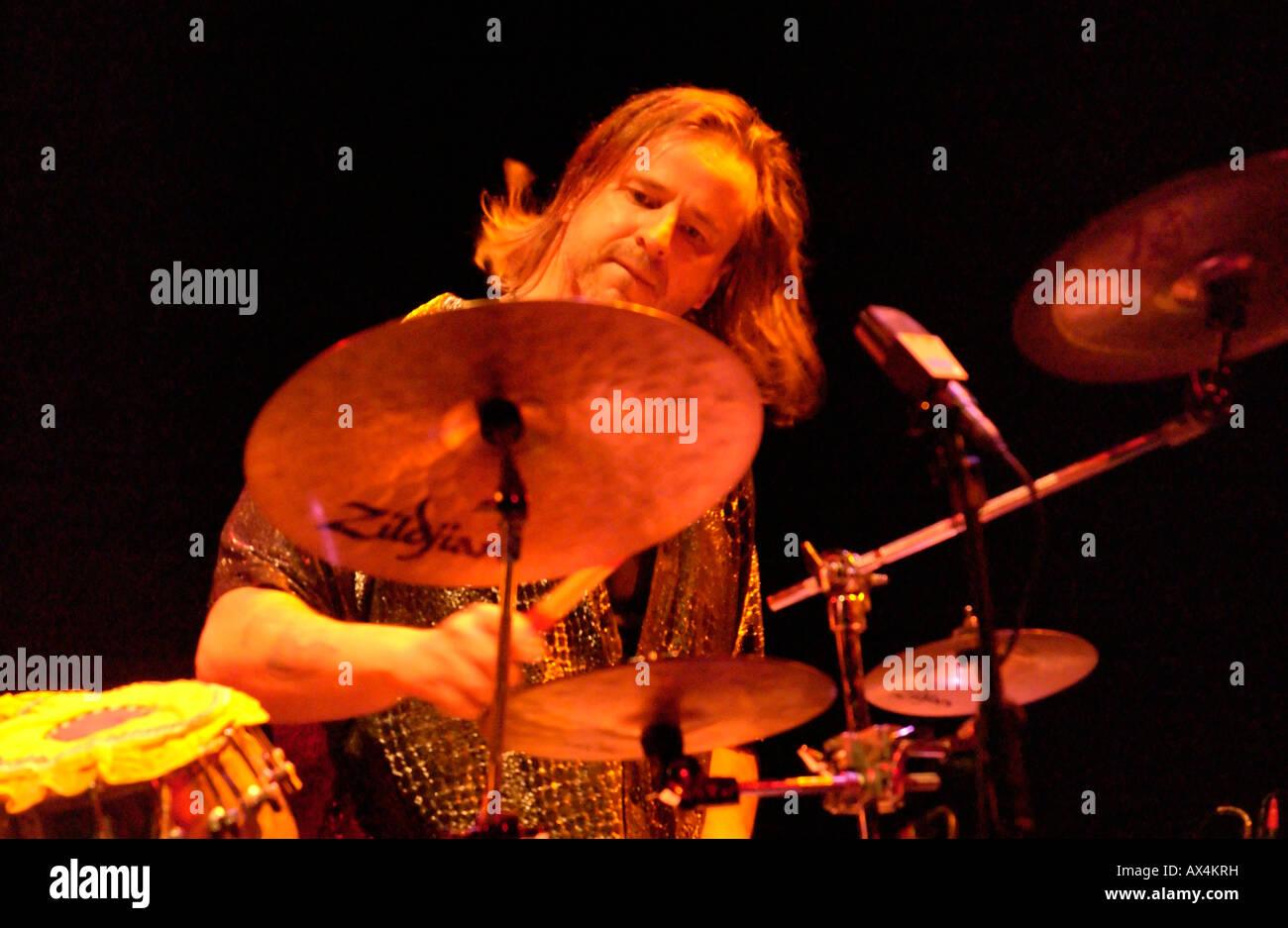 percussionist pete lockett at rhythm sticks festival, royal festival hall, london. 2004 - Stock Image