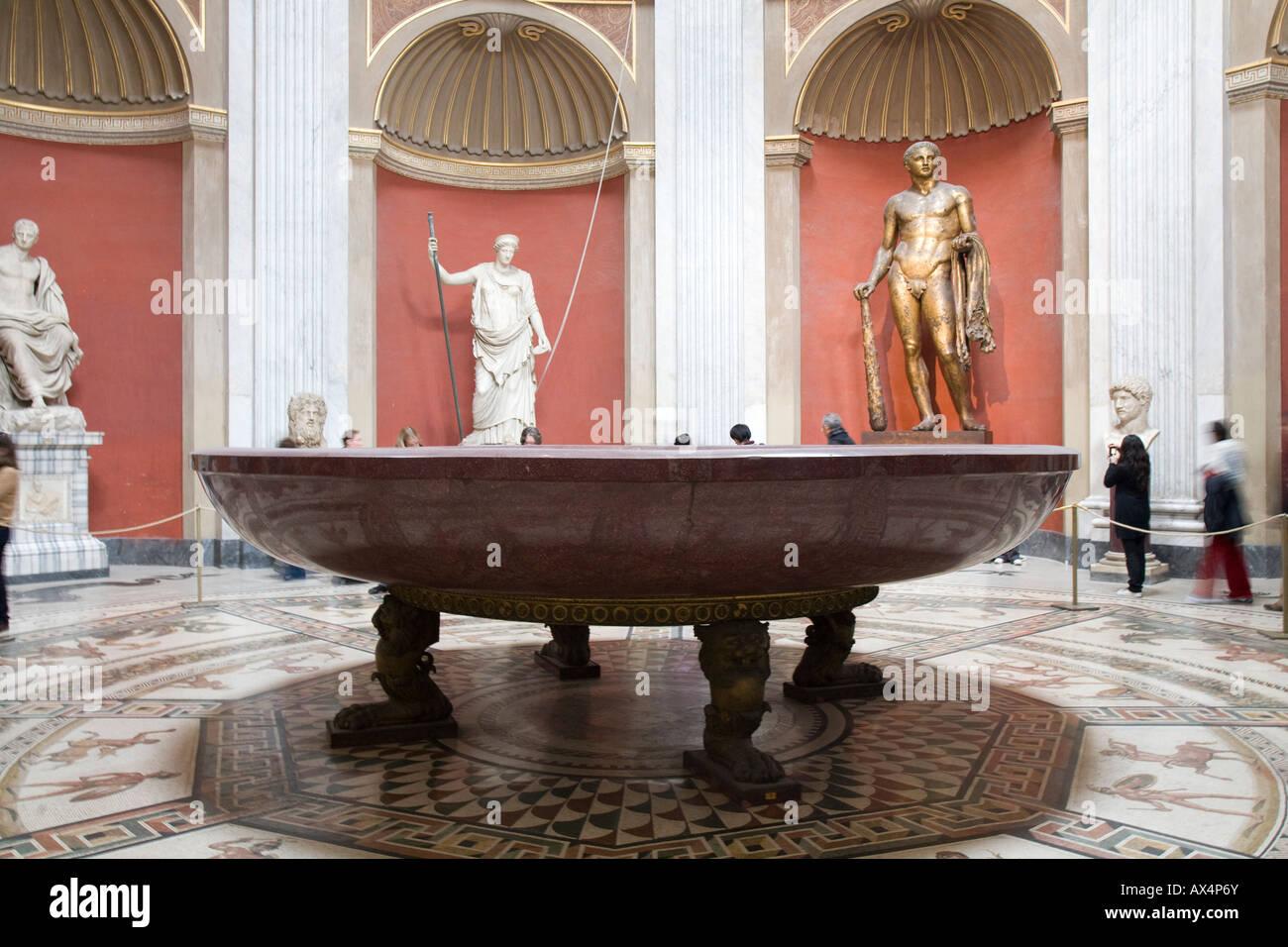 Emperor Nero's marble bathtub - Stock Image