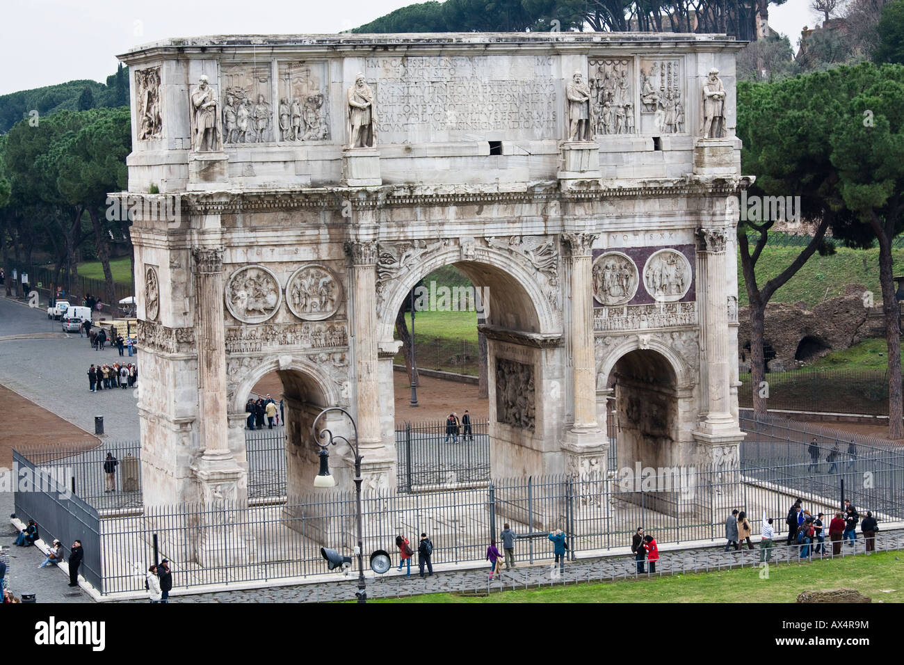 Arch of Constantine dedicated 315 AD - Stock Image