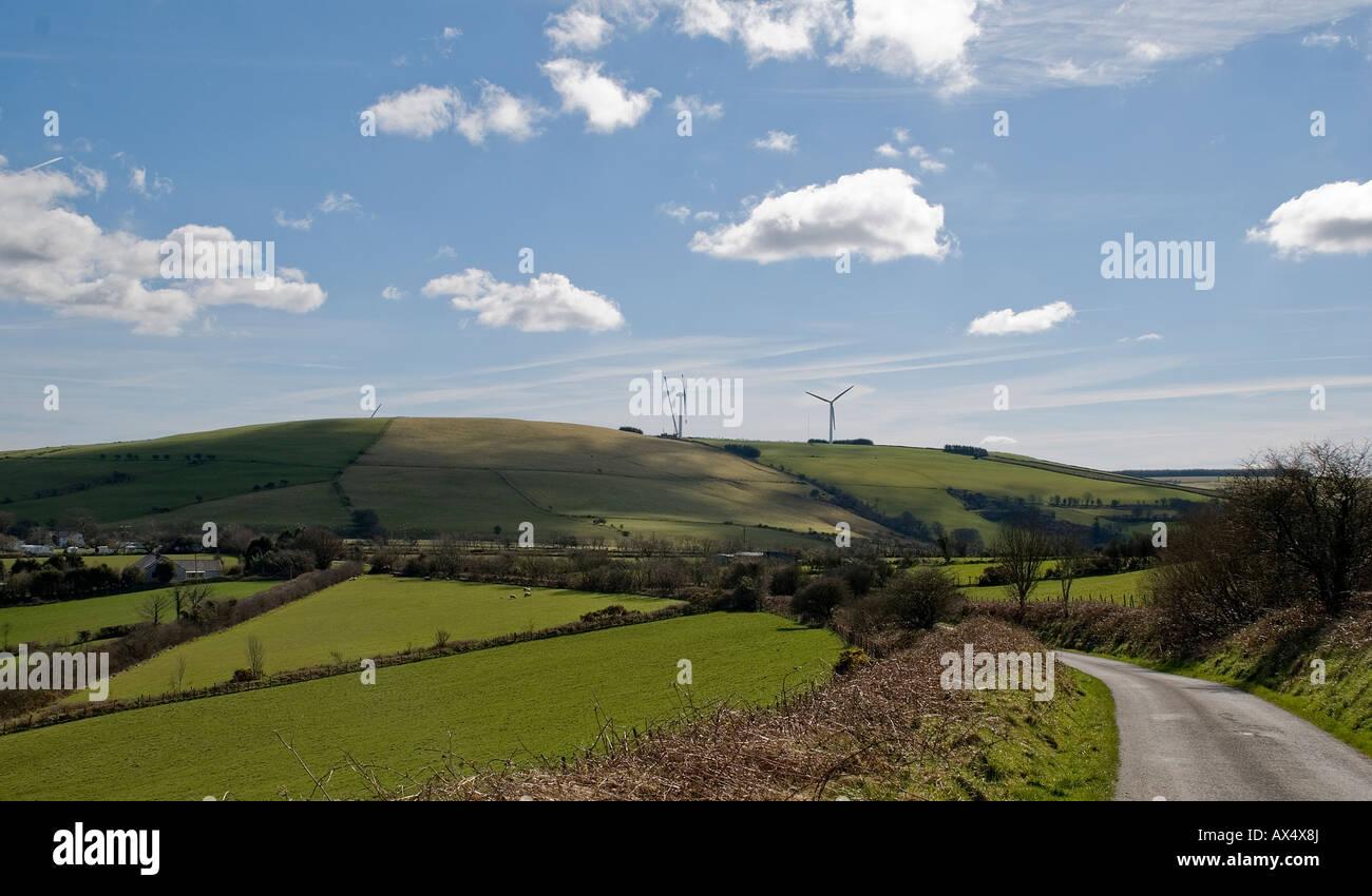 Windfarm Repairs 3, Capel Iwan, Carmarthenshire - Stock Image
