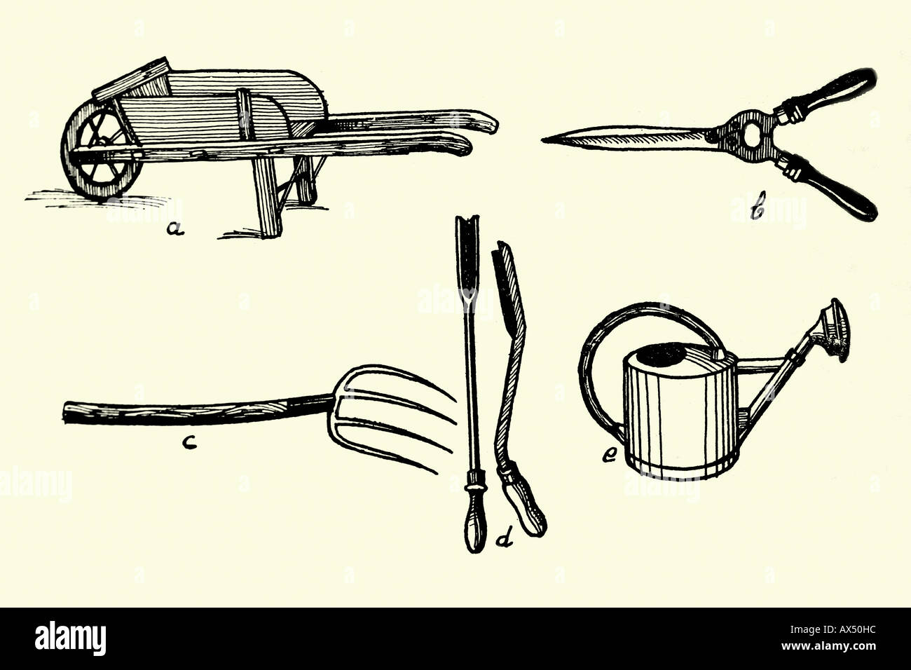 Vintage Gardening Tools Stock Photos Vintage Gardening Tools Stock