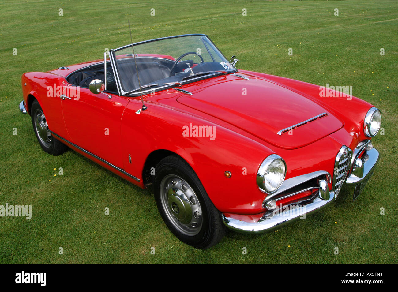 Front Detail Of A Red Alfa Romeo Giulia 1964 1600cc Classic Sports