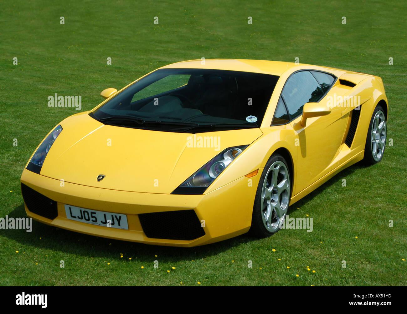 Yellow Lamborghini Gallardo Italian Super Car Stock Photo 9560700