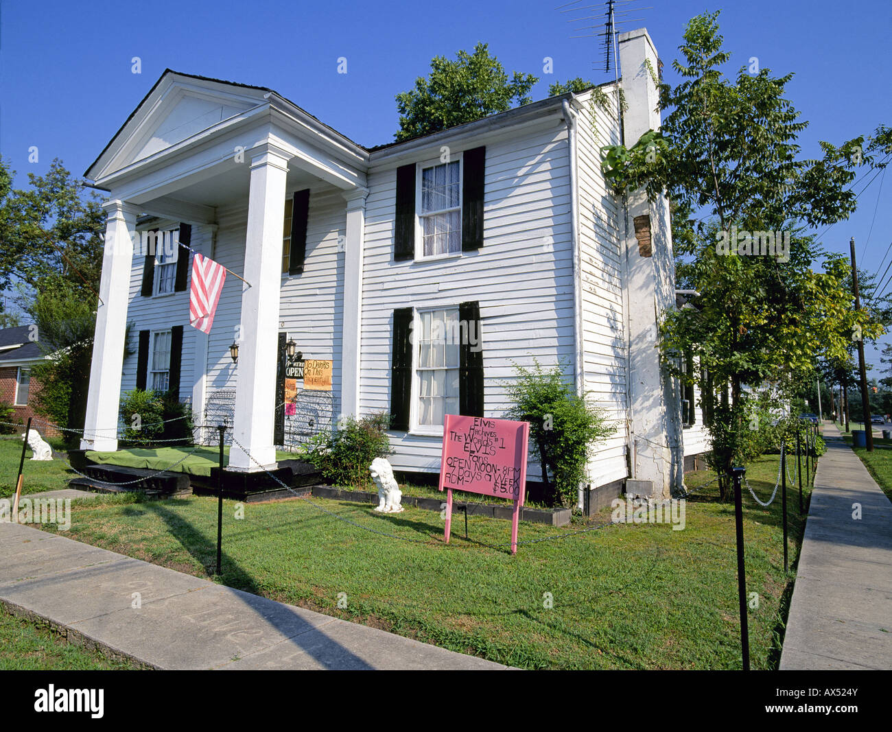 A view of the Elvis Presley Museum in Tupelo Mississippi birthplace of Elvis Presley - Stock Image