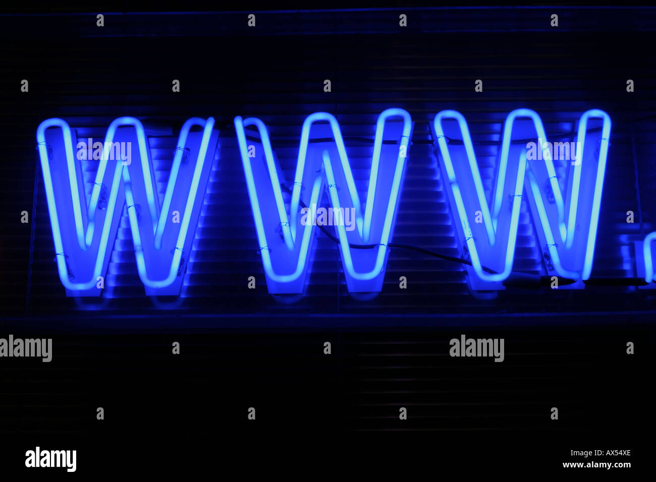neon sign www world wide web - Stock Image