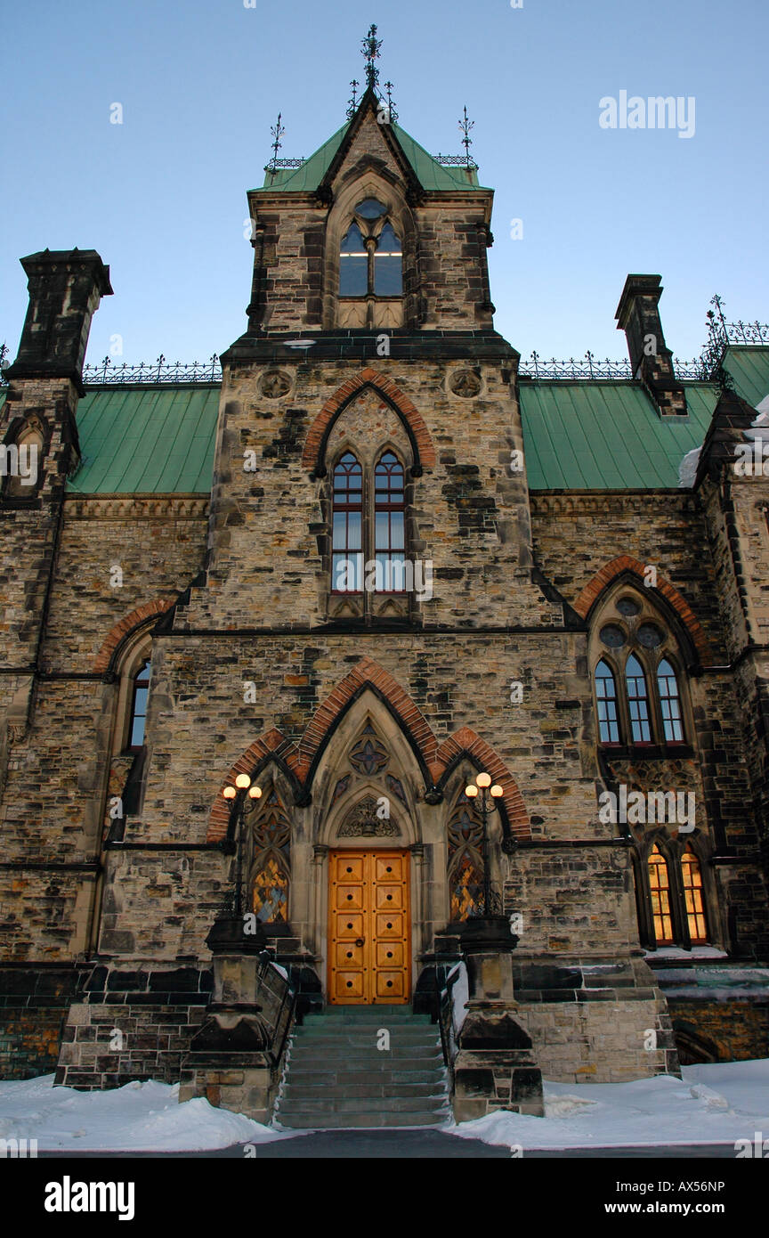 The side entrance to Ottawa Canadas Parliament Hill - Stock Image