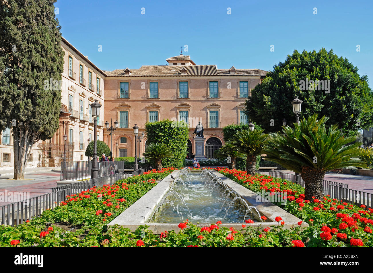Episcopal Palace, Glorieta de Espana, Murcia, Spain, Europe - Stock Image