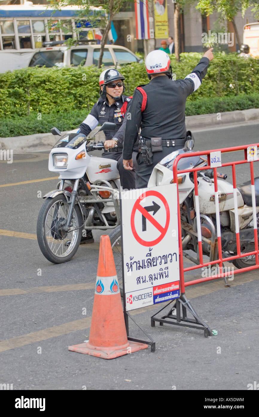 Policemen, Thailand Stock Photo