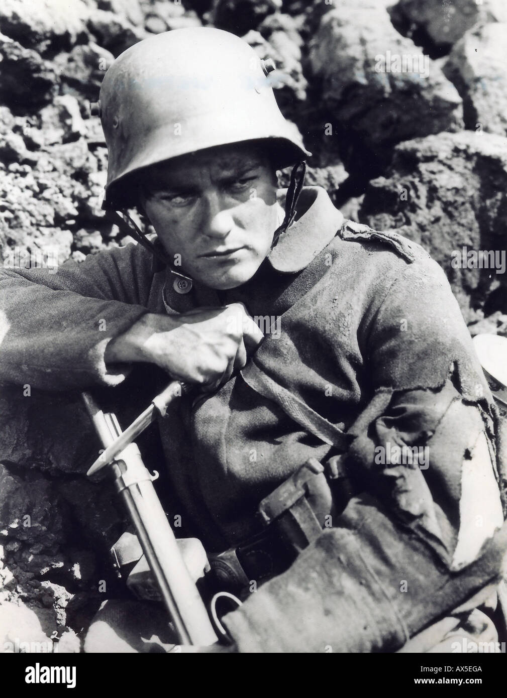 ALL QUIET ON THE WESTERN FRONT 1930 Universal film with Lew Ayers - Stock Image