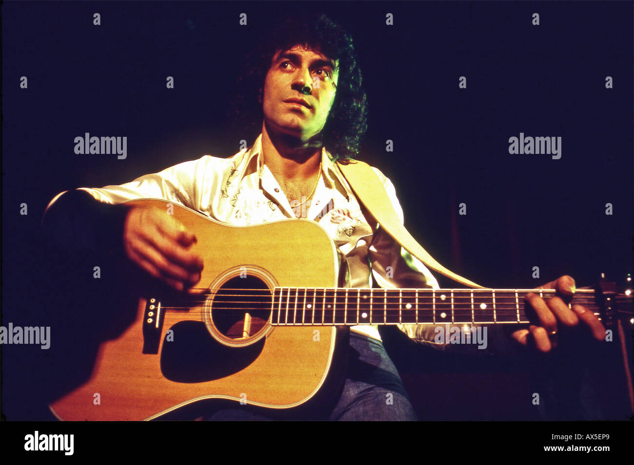 ALBERT HAMMOND UK singer in 1973 - Stock Image