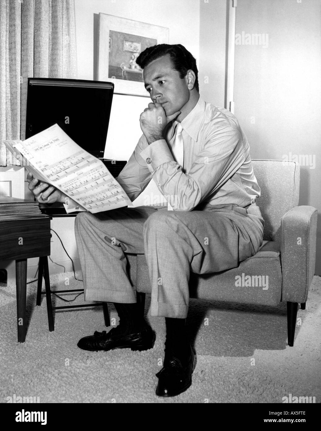 VIC DAMONE  US singer about 1957 - Stock Image