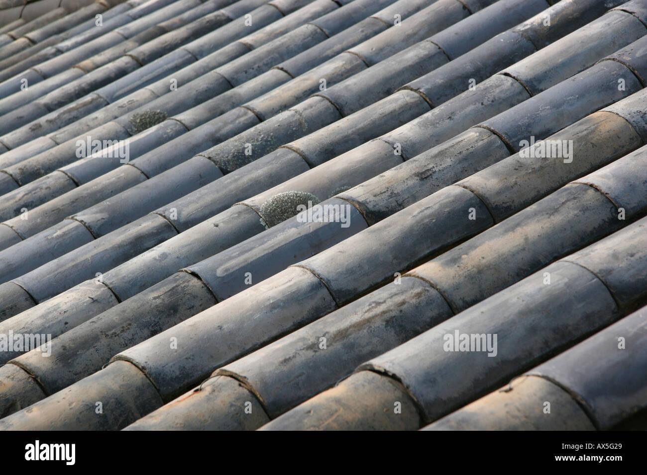 Buddhist temple roof detail, Korea Stock Photo