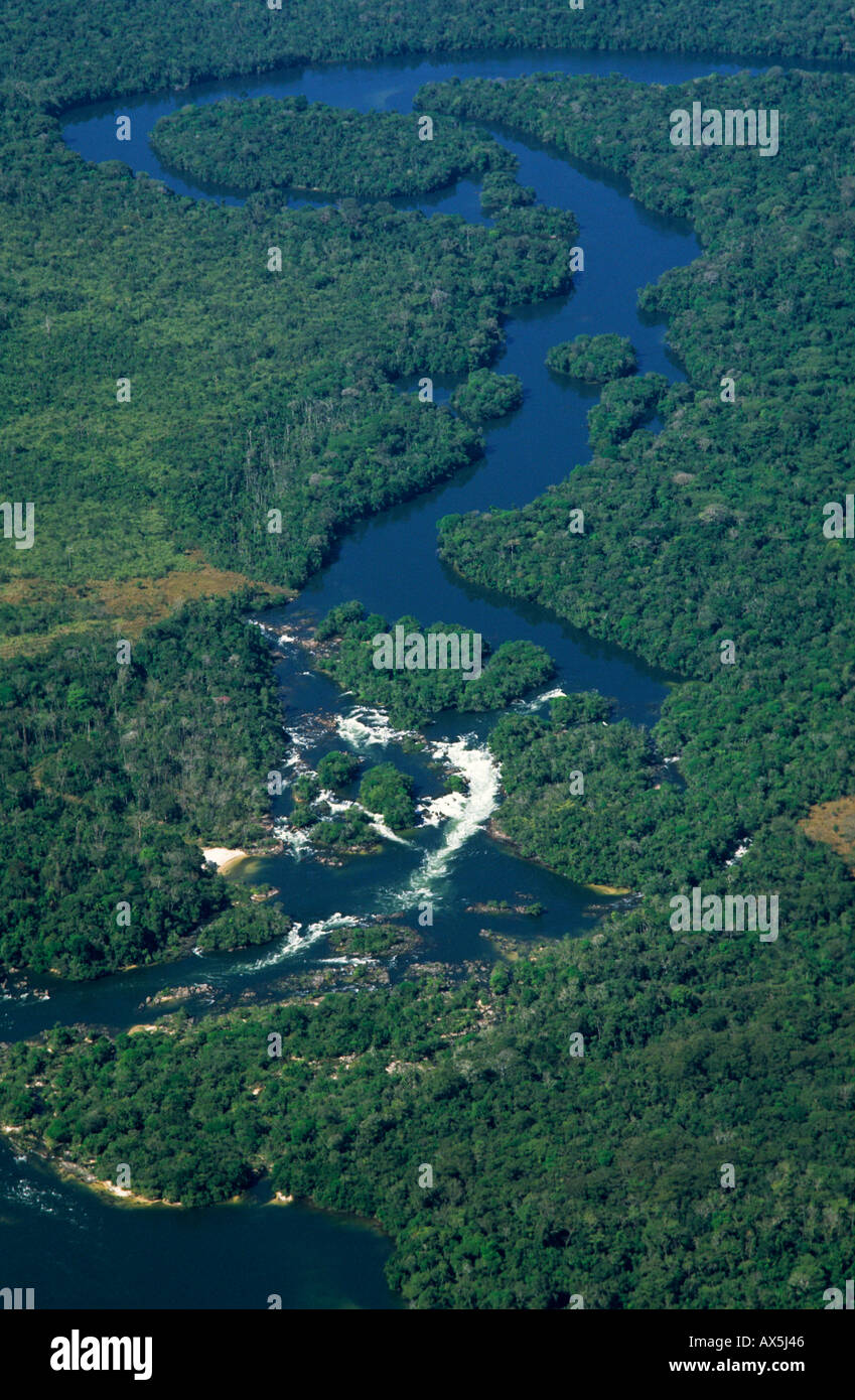 Xingu River Oxbow Lake Aeri...