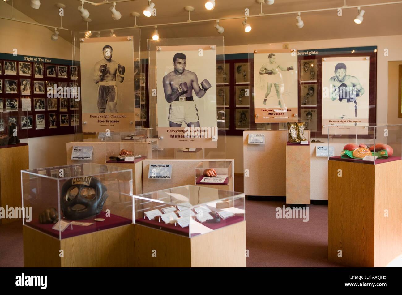 International Boxing Hall of Fame Canastota New York home of popular fighter Carmen Basilio - Stock Image