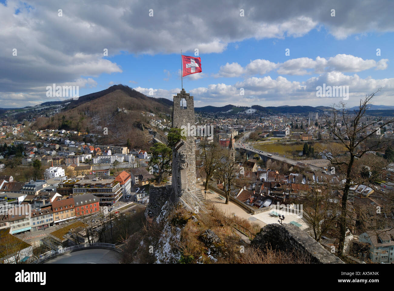 Stein fortress ruins, Baden, Aargau Canton, Switzerland, Europe - Stock Image