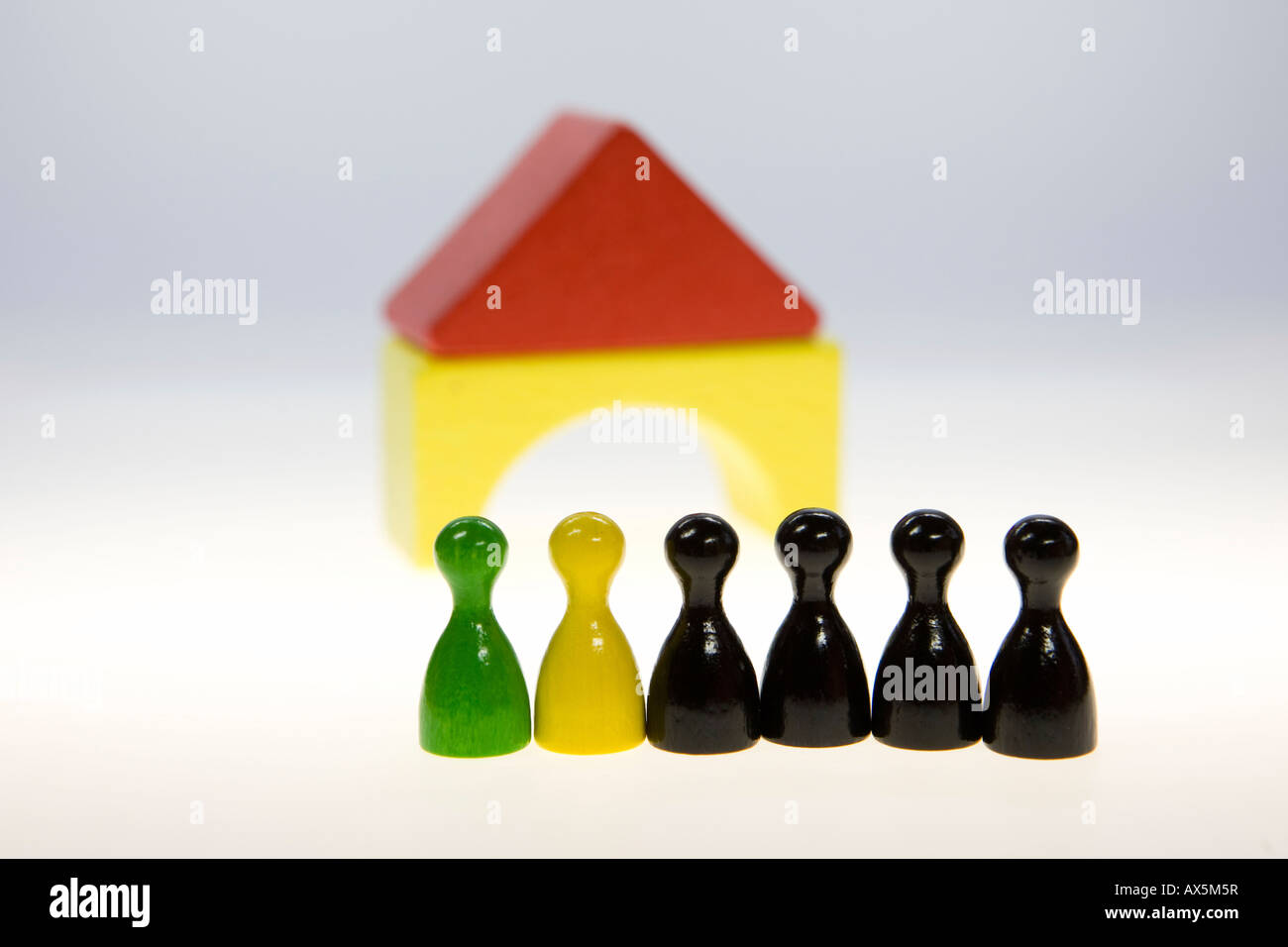 Black-yellow-green coalition in the German parliament (Bundestag, Landtag) Stock Photo