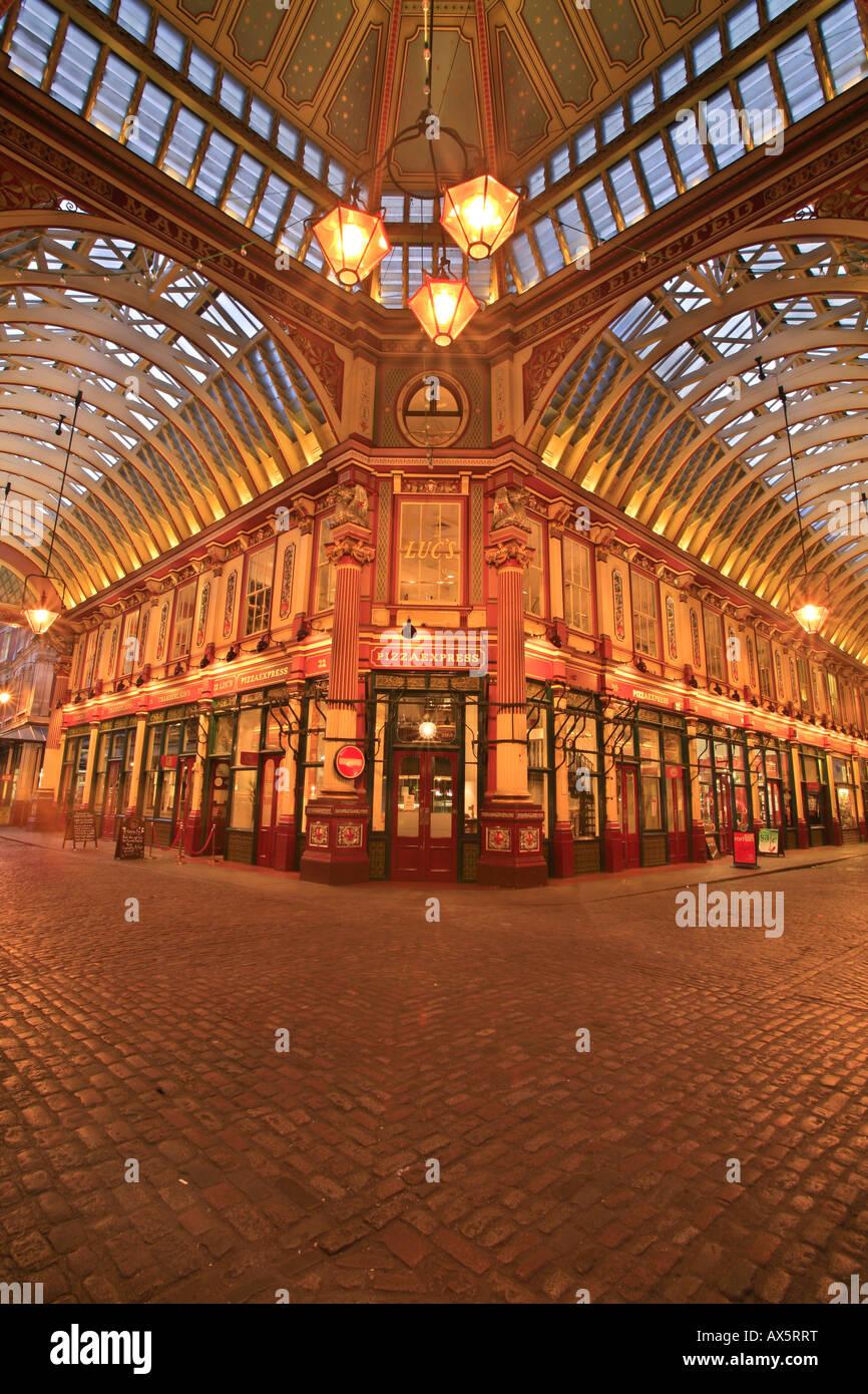 Interior view, Leadenhall Market, London, England, UK, Europe Stock Photo