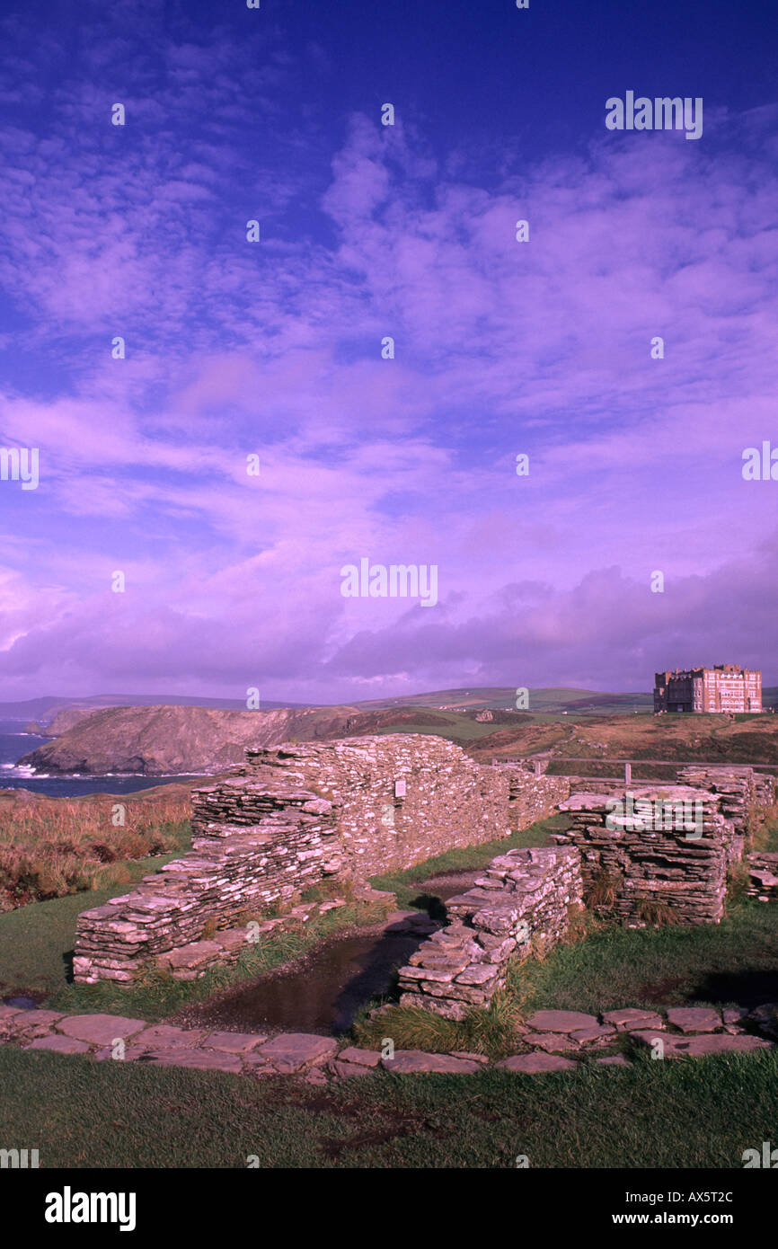 King Arthur s home Tintagel Castle in Cornwall England - Stock Image