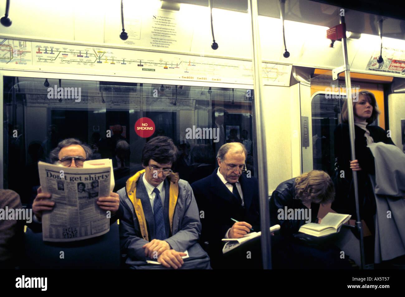 The Tube underground mass transit system in London England - Stock Image