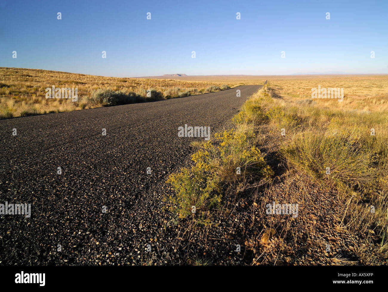 Country road next to Interstate 70 (I-70) near Hanksville, Utah, USA - Stock Image