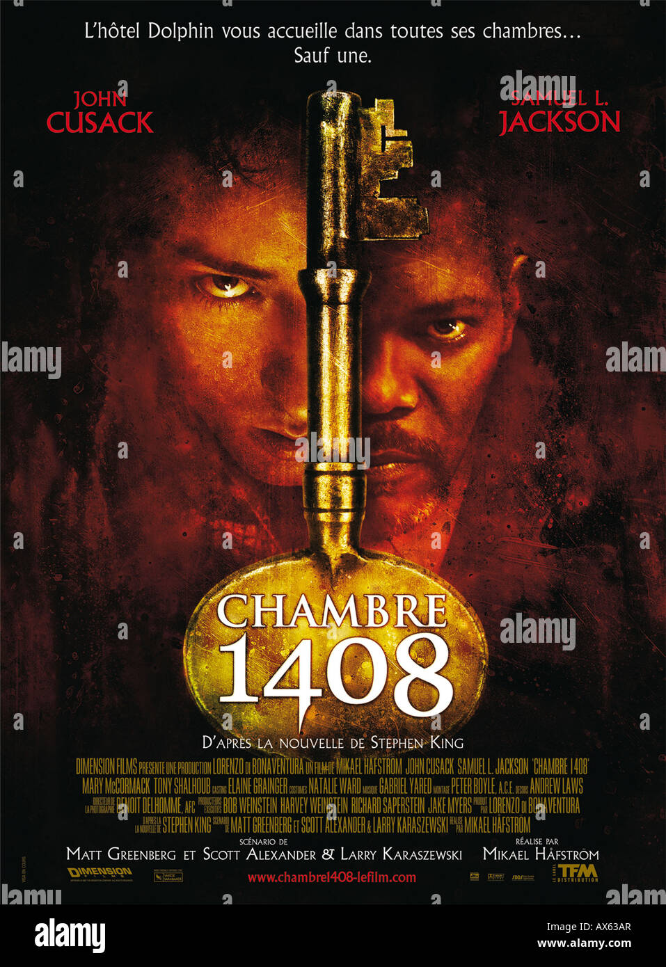 1408 year 2007 director Mikael Hafstrom movie poster fr