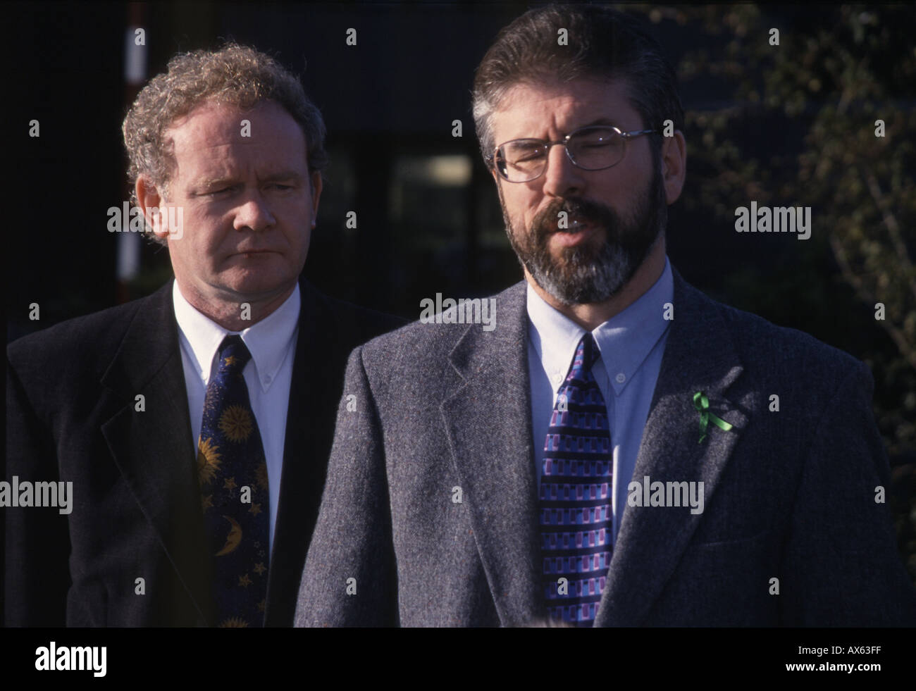 Gerry Adams Martin McGuinness in press conference,Belfast,N.Ireland, 05/ 07 /2004 - Stock Image
