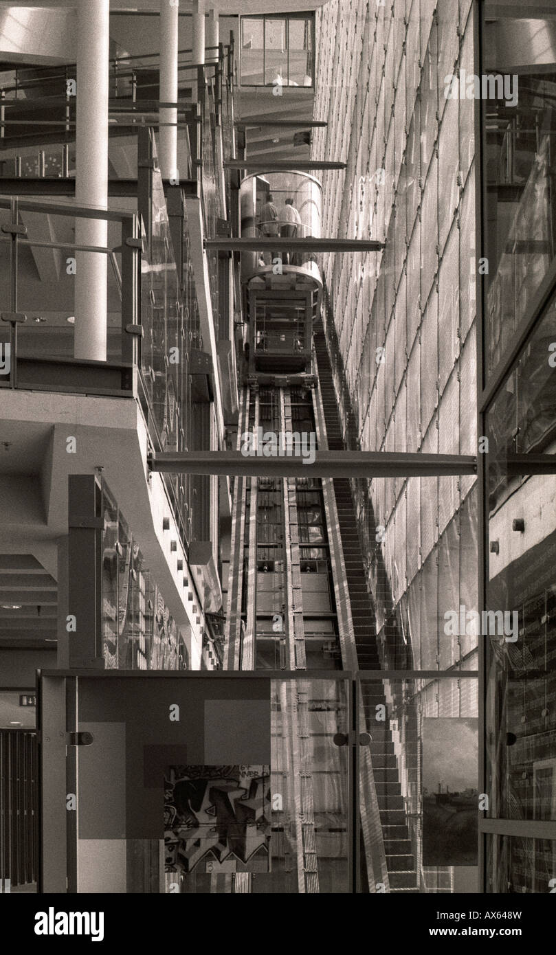 Lift, Urbis interior, Cathedral Gardens, Manchester, UK - Stock Image