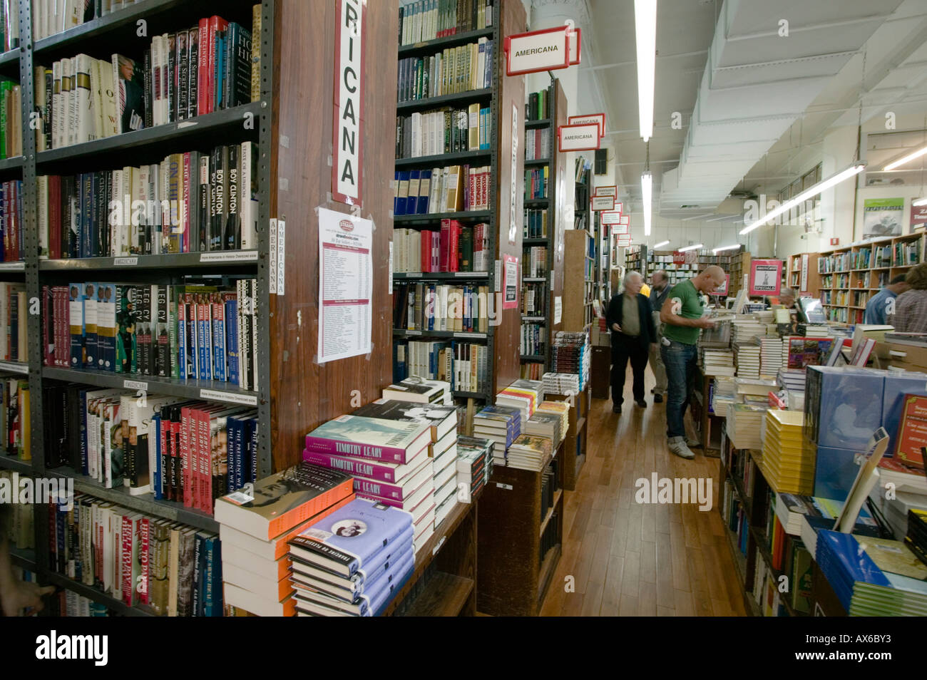 The Strand Bookstore largest in world New York City 2006 - Stock Image