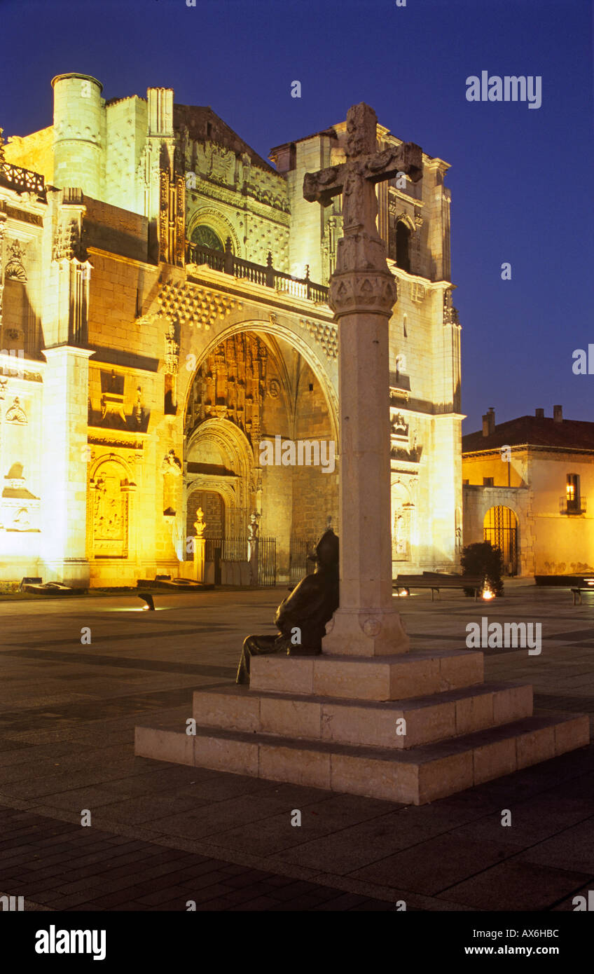 Castilla Leon the church of San Marcos, in the city of Leon, Spain. Convento de San Marcos - Stock Image