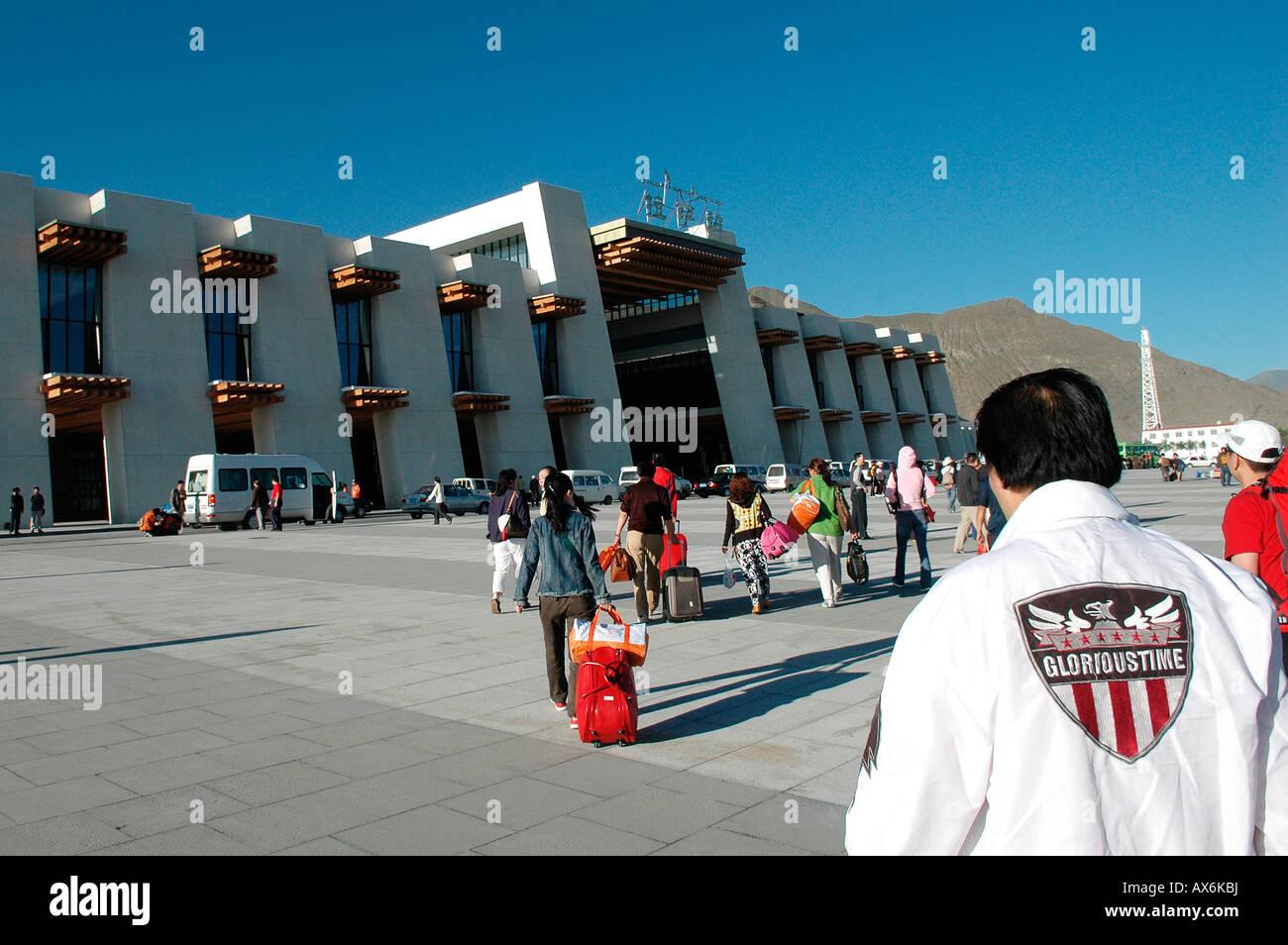 Lhasa train station, Tibet - Stock Image