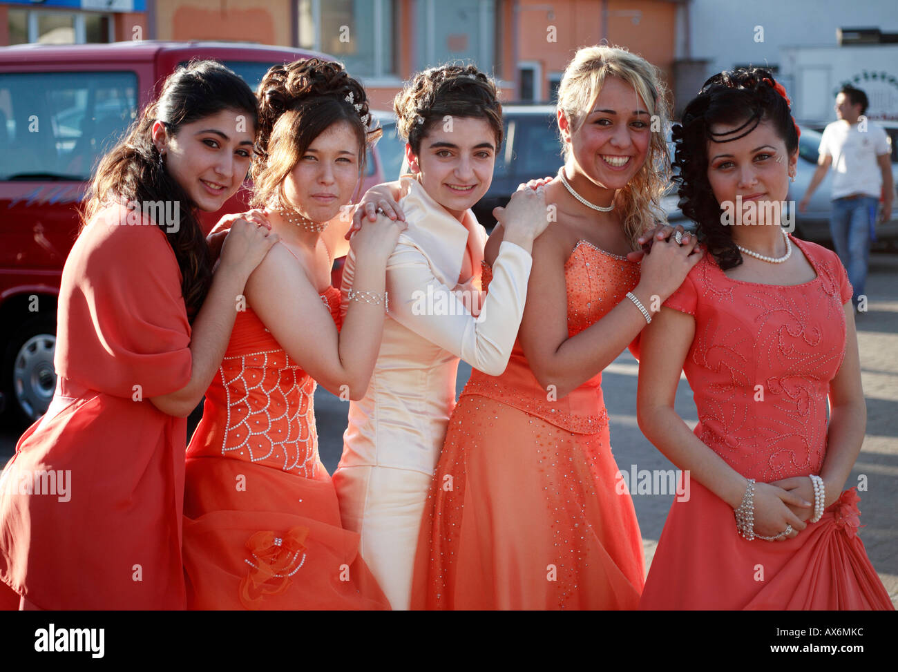 Group Of Young German Turkish Women At A Turkish Wedding