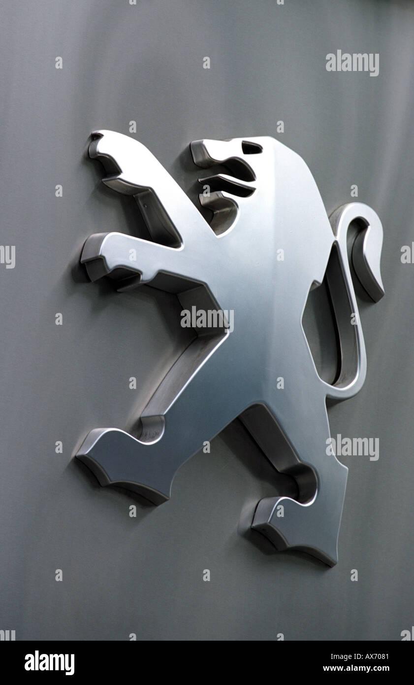 Peugeot car showroom sign - Stock Image