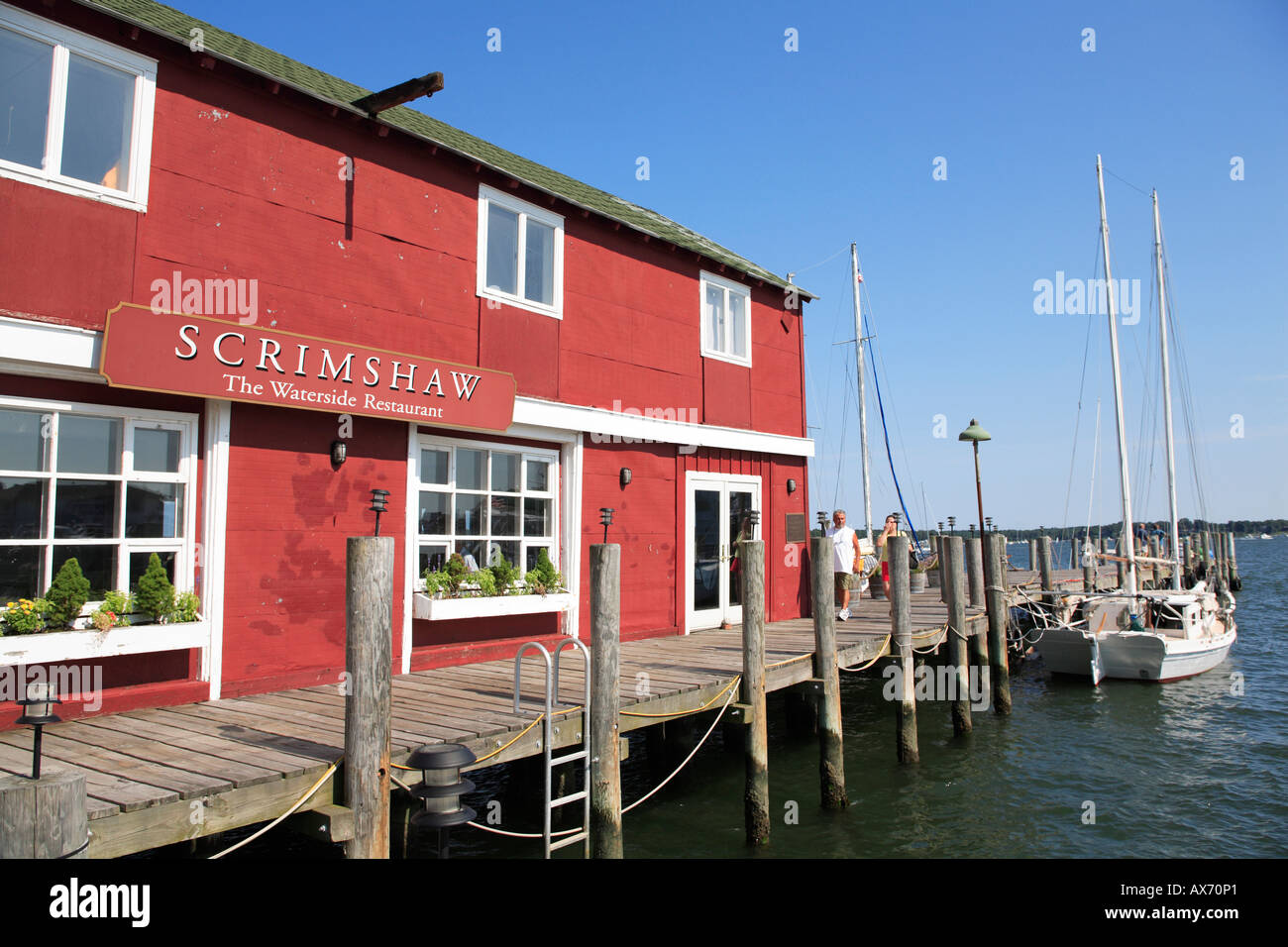 Scrimshaw Restaurant Marina Greenport Long Island Shelter