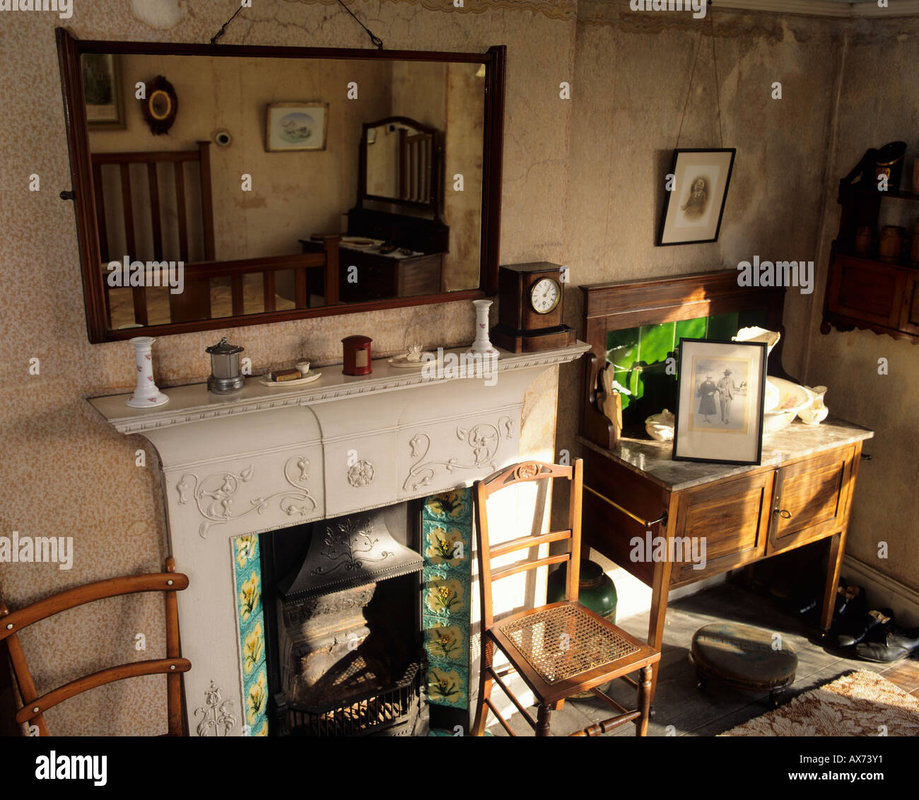 Still life of house in Yorkshire England that had been closed up since the 1940's. - Stock Image
