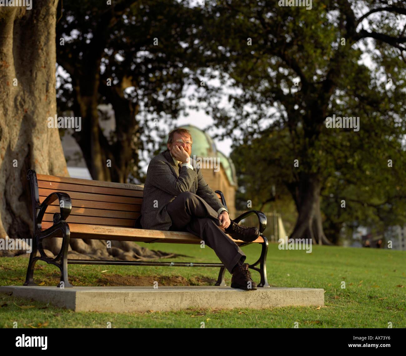 Author Bill Bryson in Sydney Australia - Stock Image