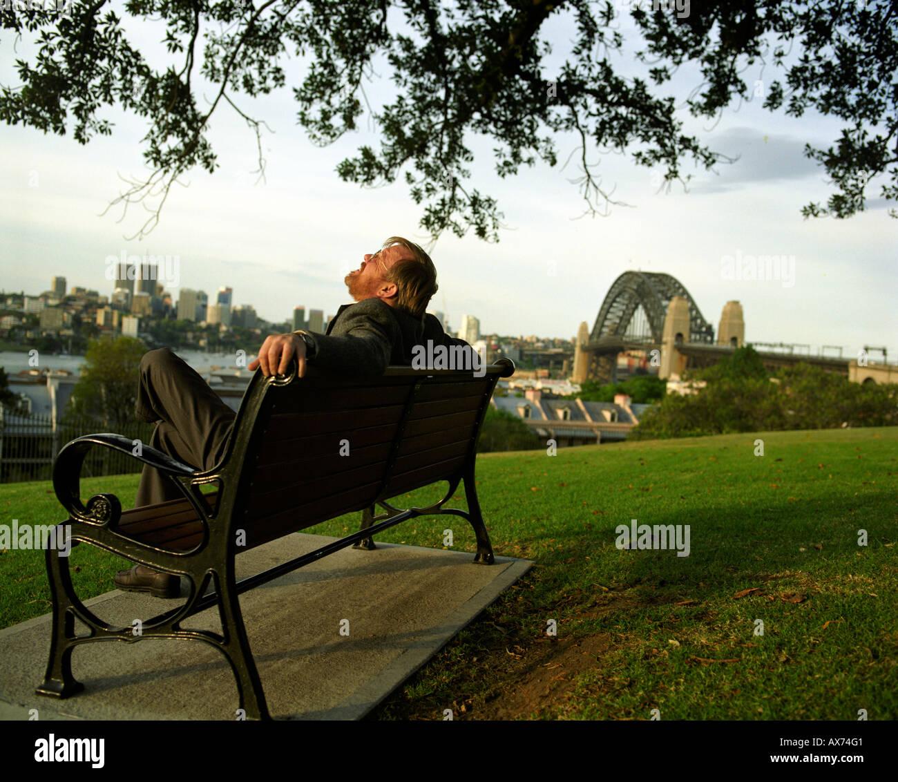 Author Bill Bryson in Sydney. - Stock Image
