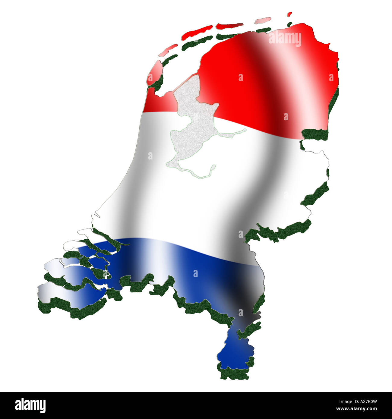 Holland country map stock photos holland country map stock images outline map and flag of holland stock image gumiabroncs Gallery