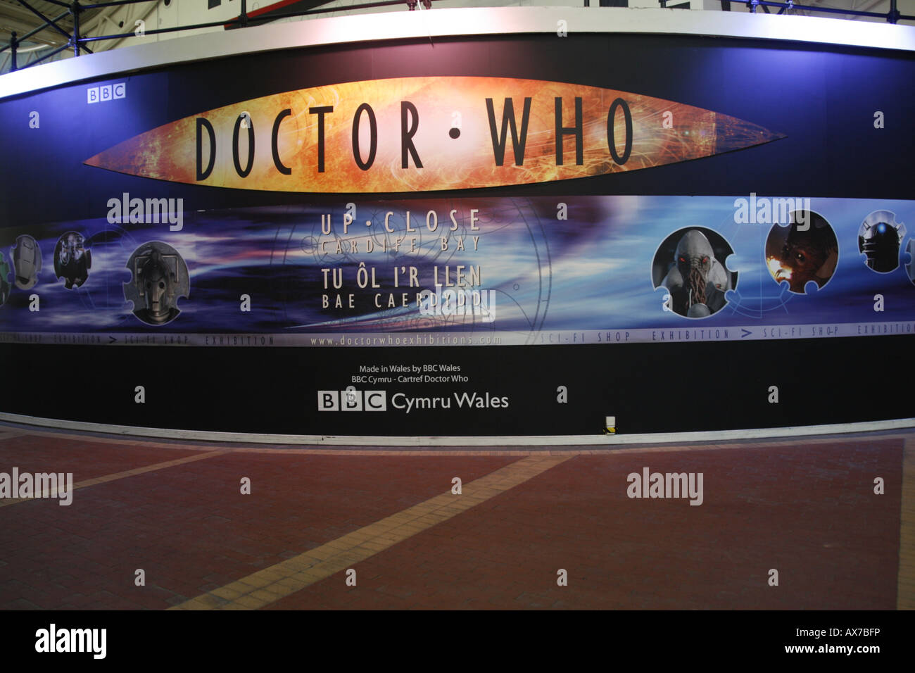 Dr Who Exhibition Red Dragon Centre Cardiff Bay - Stock Image